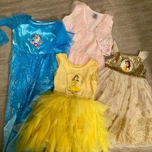 Girls size 3T/4T Disney dresses!